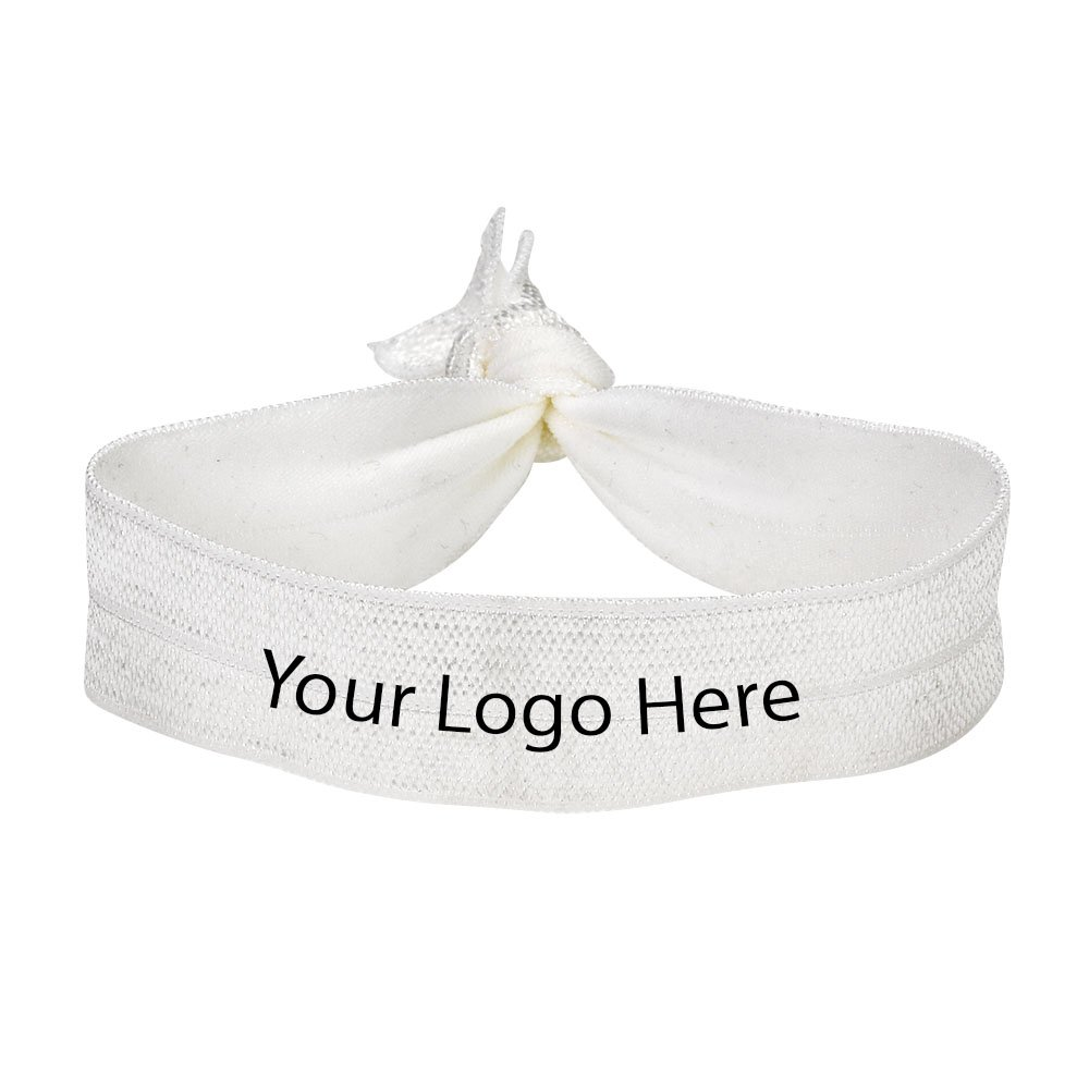 3/4'' Stretchy Elastic Fold Over Hair Tie - 100 Quantity - $1.38 Each - PROMOTIONAL PRODUCT/BULK/BRANDED with YOUR LOGO/CUSTOMIZED