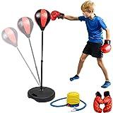 Set di Borse da Boxe per Bambini, KidsHobby® Punching Bag indipendente con Guantoni da Boxe Punching Ball per Bambini, Altezza Regolabile 80-110 cm