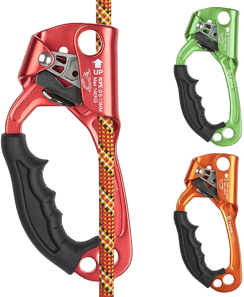 Left//Right Hand Lixada Hand Ascender Rock Climbing Ascender 8-12mm Vertical Rope Access Tree Arborist Rappelling Gear Equipment Rope for Climbing Rescue Caving