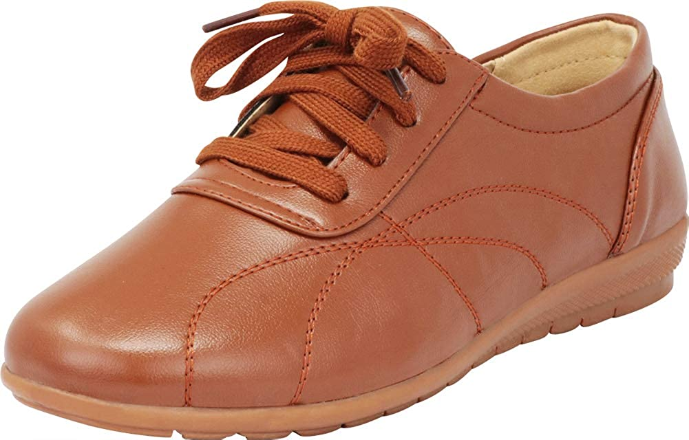 Cambridge Select Womens Lace-Up Padded Casual Comfort Oxford