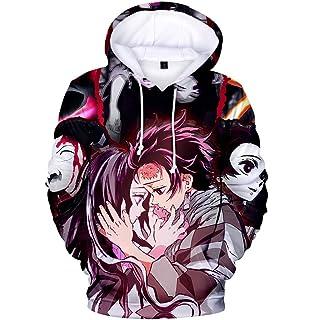 paloli Kimetsu no Yaiba Hoodie Demon Slayer Top 鬼滅の刃 Anime Cosplay Sweater Cool Jacket