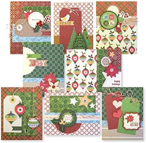 Greeting Card Making Kit Pack Beautiful Greeting Cards for Christmas DIY Handmade Greeting Card Kits for Kids /& Adults