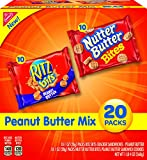 Nabisco Peanut Butter Mix, Ritz Bits & Nutter Butter Bites, Variety Pack with Cookies & Crackers, 20 Count