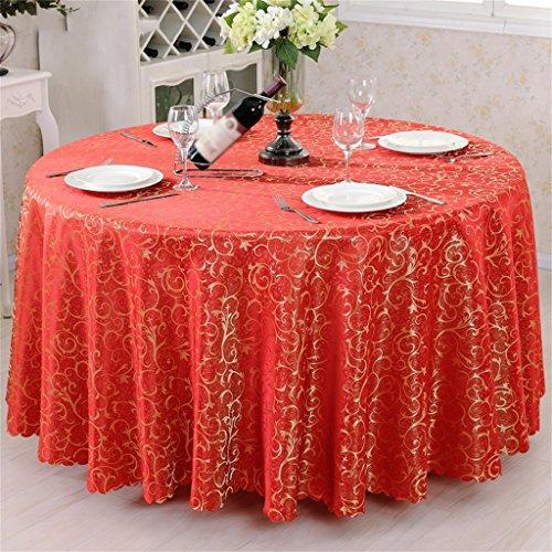 1 Round 240cm QPG Style Européen Restaurant Hôtel Tissu Table Ronde Nappe Nappe Table Basse Tissu Table Tissu voitureré Table Tissu Table Jupe (Couleur    1, taille   Round 240cm)