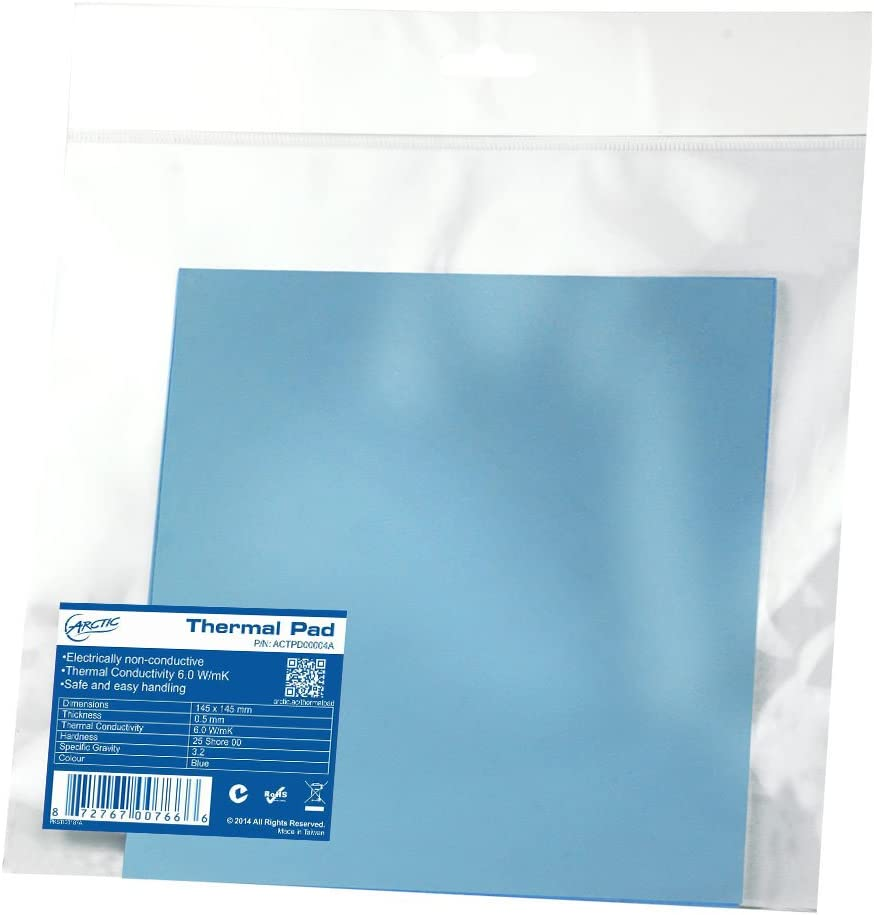 ARCTIC Thermal Pad 290 x 290 x 1.5 mm Thermal Compound for All Coolers Efficient Thermal Conductivity Gap Filler Safe Handling Easy to Apply