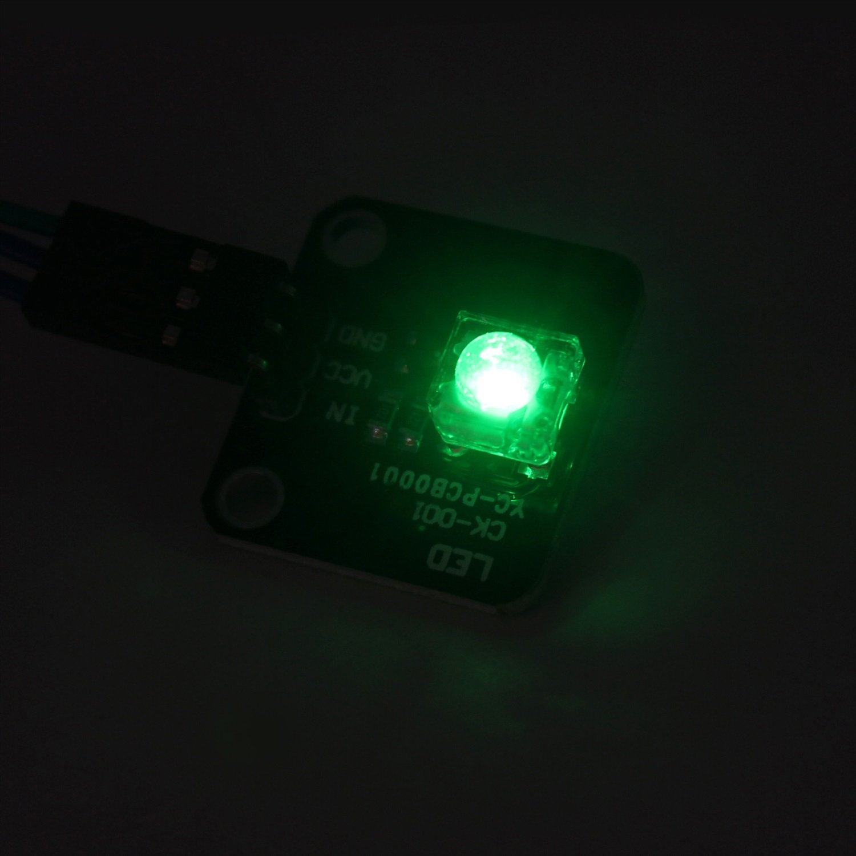 Yhuisen LDTR-HM0009 Piranha LED Module for Arduino - Black (Color : Green)