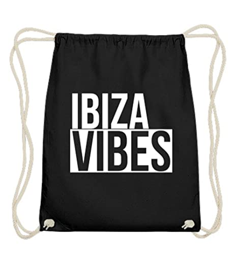 Ibiza Vibes Turn Bolsa Negro de algodón 100% Premium Calidad ...