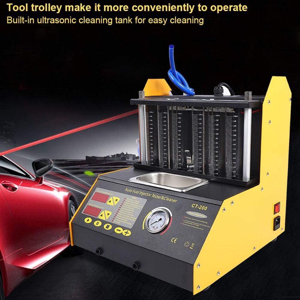 EU Plug Wirklich gute Qualit/ätsprodukte kein M/üllhaufen Ultraschall Fuel Injector Cleaner Tester 6 Zylinder Unterst/ützung Benzin Motorrad Kfz Kraftstoffreinigung 100-240V
