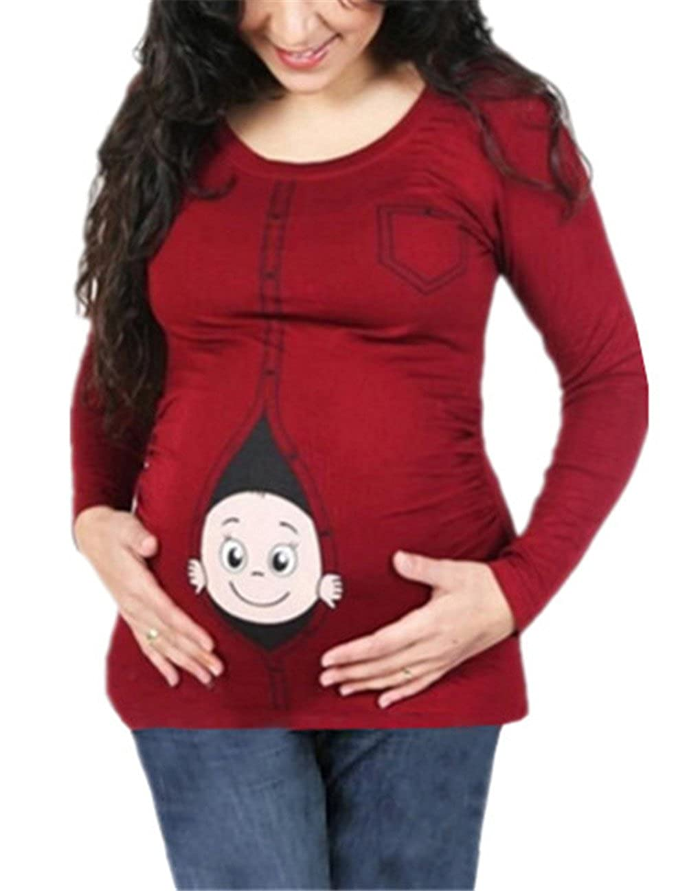 AILIENT Maternity T Shirt Pregnancy Tee For Mothers