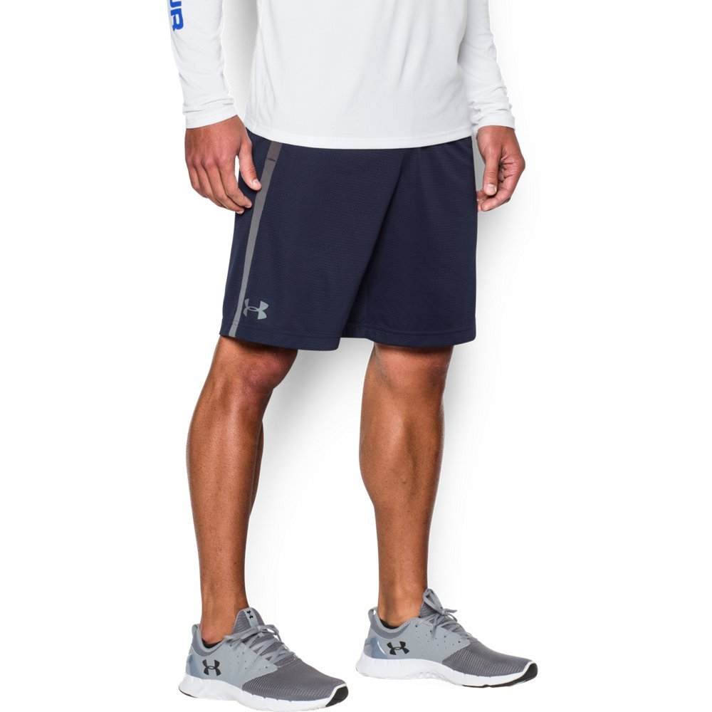 Under Armour Men's Tech Mesh Shorts, Midnight Navy (410)/Steel, Small