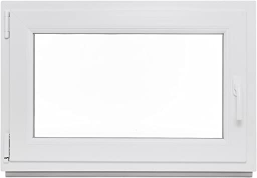 BxH 100x75 DIN rechts Fenster Kellerfenster Kunststofffenster Breite Premium 100 cm 2 fach Verglasung Alle Gr/ö/ßen Dreh Kipp Wei/ß