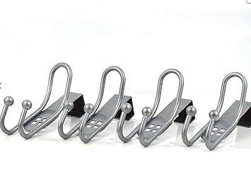 Ganchos perchero 4 piezas Metal espacio para colgar la puerta perchas