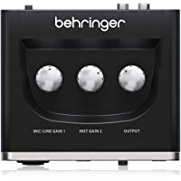 "BEHRINGER Audio Interface 1x XLR/TRS 1x 1/4"" 2X RCA USB, Black 1-Channel UM2"