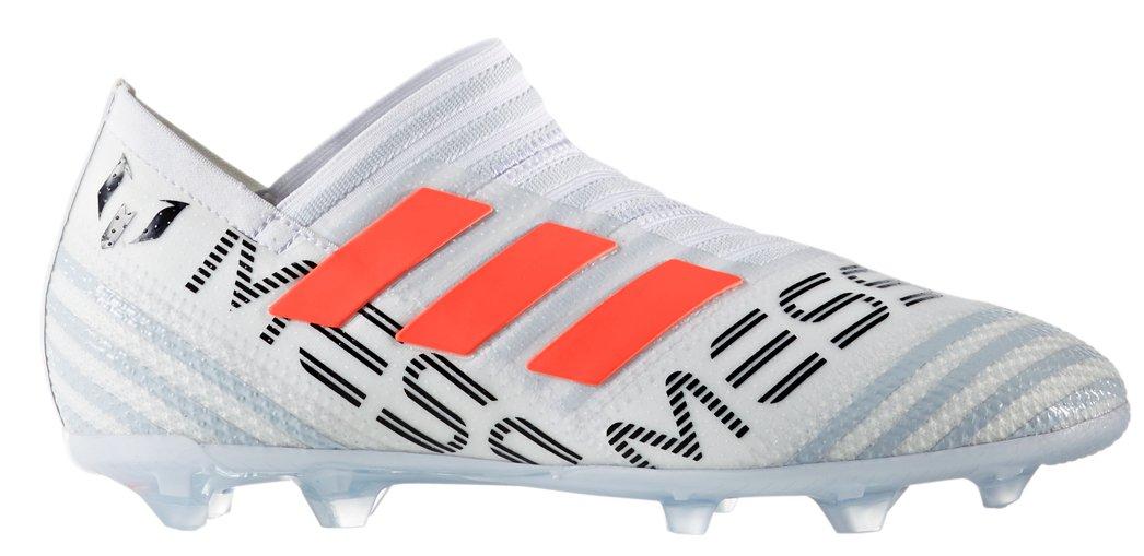 adidas Kid's Nemeziz Messi 17+ 360AGILITY FG Junior Soccer Cleats (Sz. 4.5) White, Solar Orange