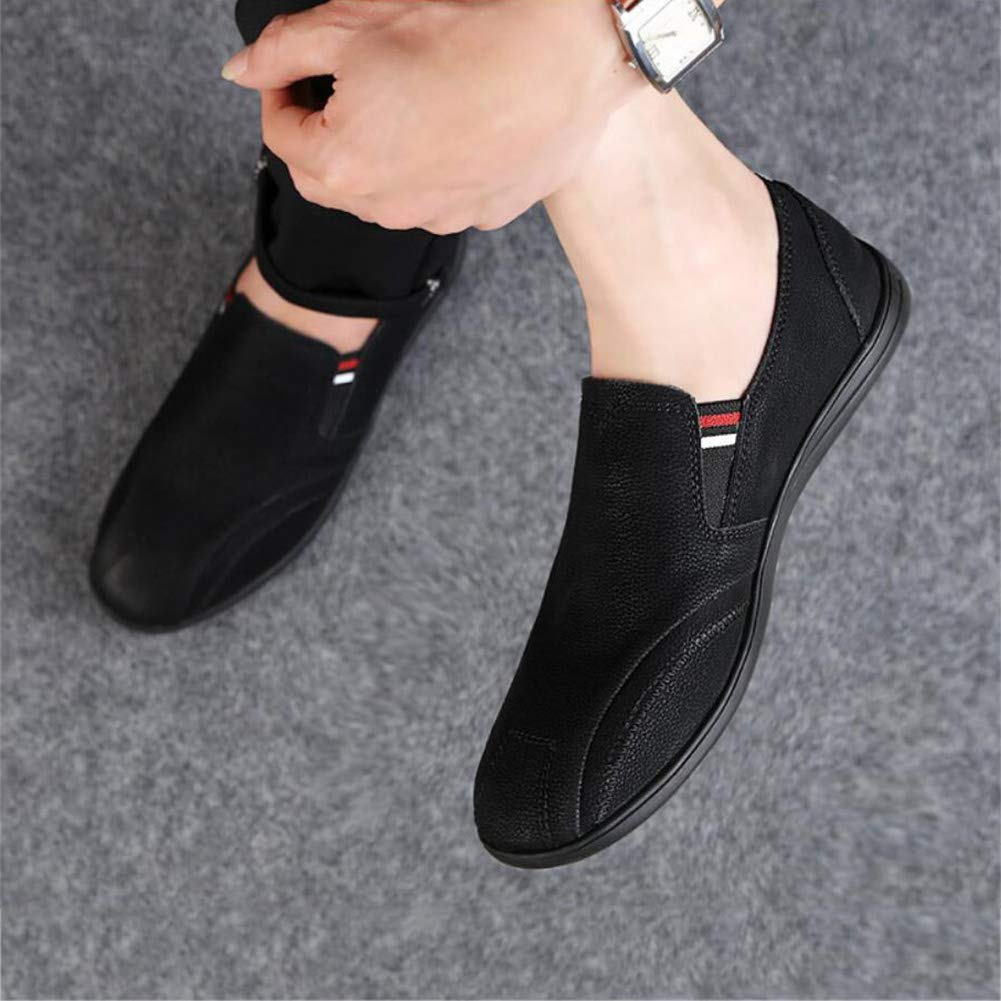 Brown White Mens Shoes Leather Spring//Fall Loafers /& Slip-ONS Driving Shoes Lazy Shoes Formal Shoes Casual Flat Loafers Black Blue