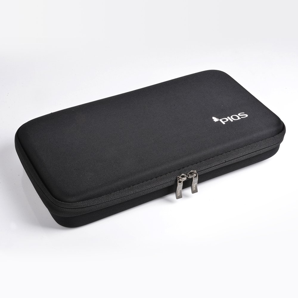 PIQS Black Portable Pico Projector Carrying Case with Customizable Dividers, Projector Travel Carrying Bag for TT Projector, Works With Small Travel Projectors From PIQS.