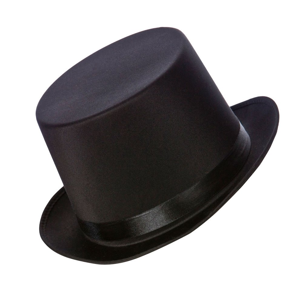 Wicked Costumes Satin Top Hat Black