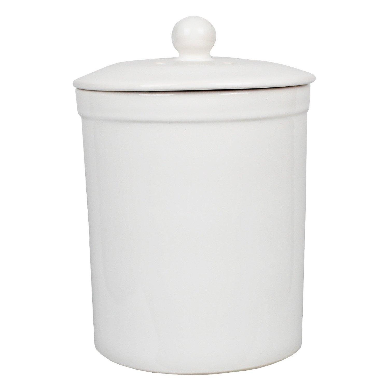 White Ceramic Compost Caddy - Melbury Kitchen Ceramic Compost Bin ...