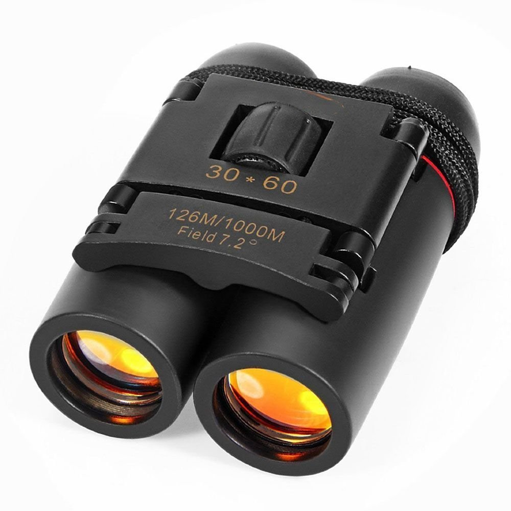 HuaYang Outdoor Travel Black Sakura Day Night Vision Mini 30x60 Binoculars Telescopes