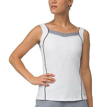 07a19fa6f6bc4 Fila Women s Gingham Cami Tank Top Shirt