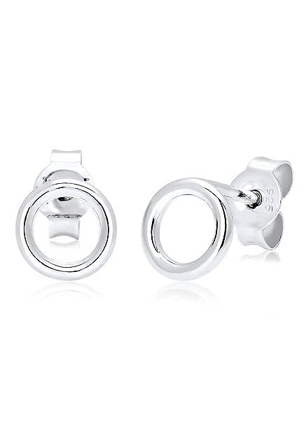 helle n Farbe am besten online neu billig Elli Damen Ohrringe Basic Kreis Rund Geo Minimal in 925 Sterling Silber