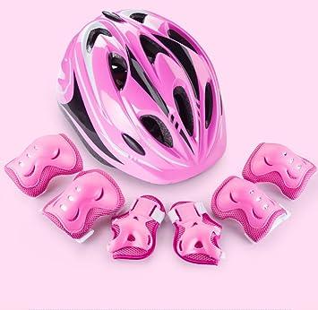 GMYQ Cascos para niños/niños para Ciclismo, patineta, Truco, Moto, Aptos para Ciclismo, Patinaje, Patinaje Rosa S (47-52 cm): Amazon.es: Deportes y aire ...