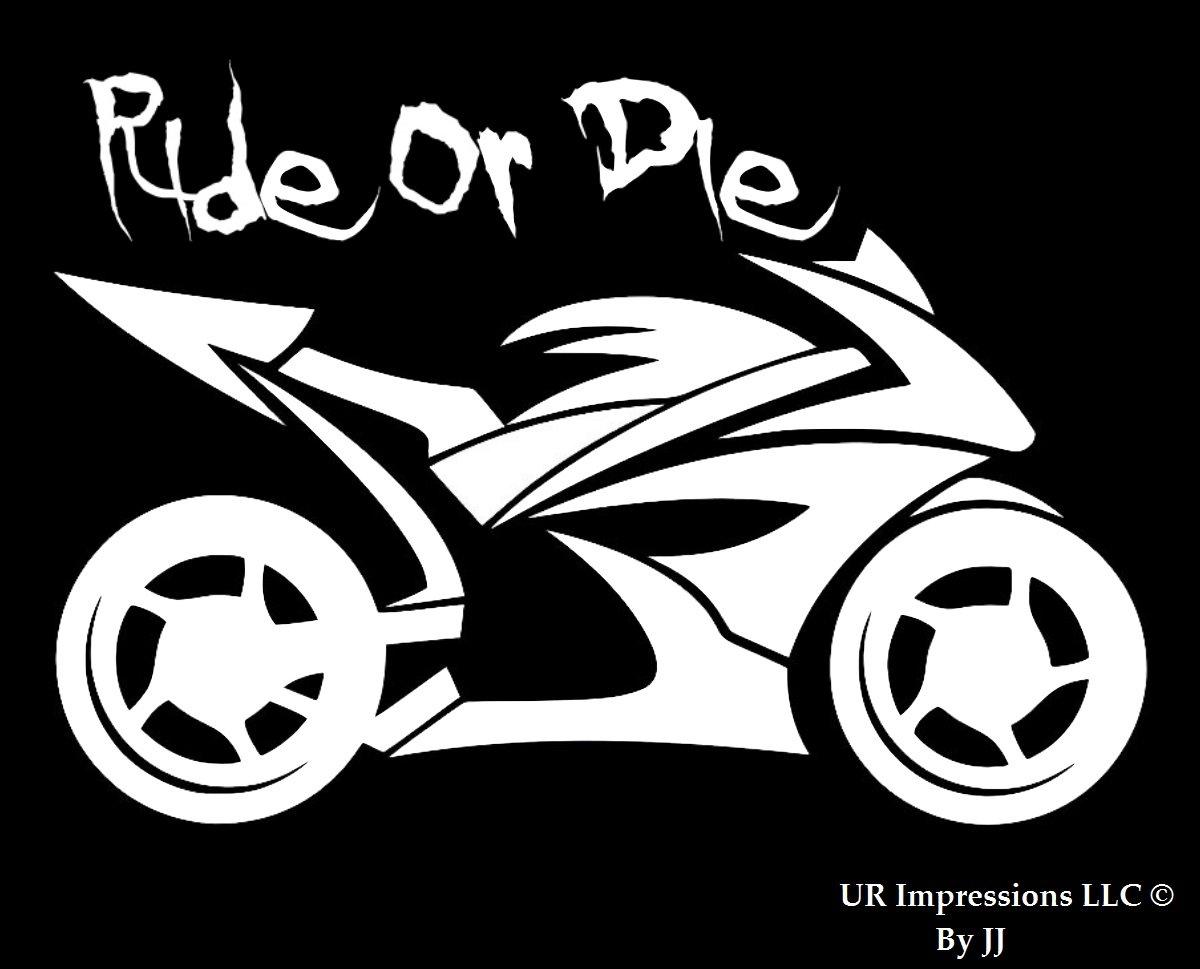 Ride or Die – オートバイデカールビニールsticker|cars Trucks壁ノートパソコンtablet|white|5.5 in|jjuri012   B07628QQ26