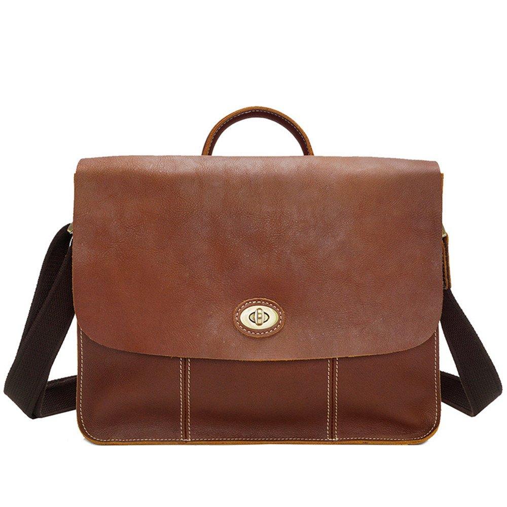 Mens Shoulder Messenger Bag Vintage Simple Briefcase Shopping Handbag For School Work 13.773.9310.62 Inch LWH)