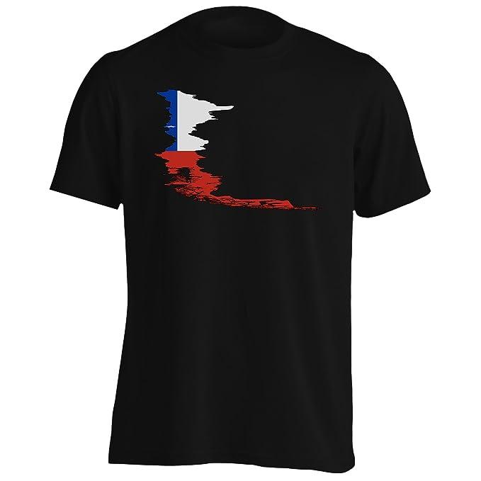 Nuevo Mundo Chile Bandera Mundo Camiseta de los hombres l676m: Amazon.es: Ropa y accesorios