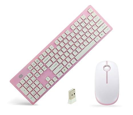 Super silencio G9500 2,4 G inalámbrico teclado de chocolate teclado y silencioso ratón para