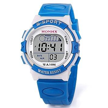 Feixiang Relojes & accesorios Reloj para NiñOs,Feixiang ♈NiñO Chica Impermeable Deporte Led Reloj