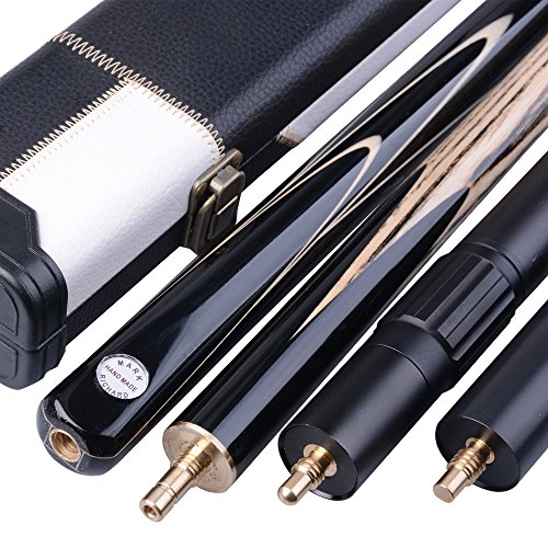 Mark Richard 3/4 Piece 57 Inches 60 Inches Handmade Snooker Cue Kit - Aluminium - Leather Case - Ash…