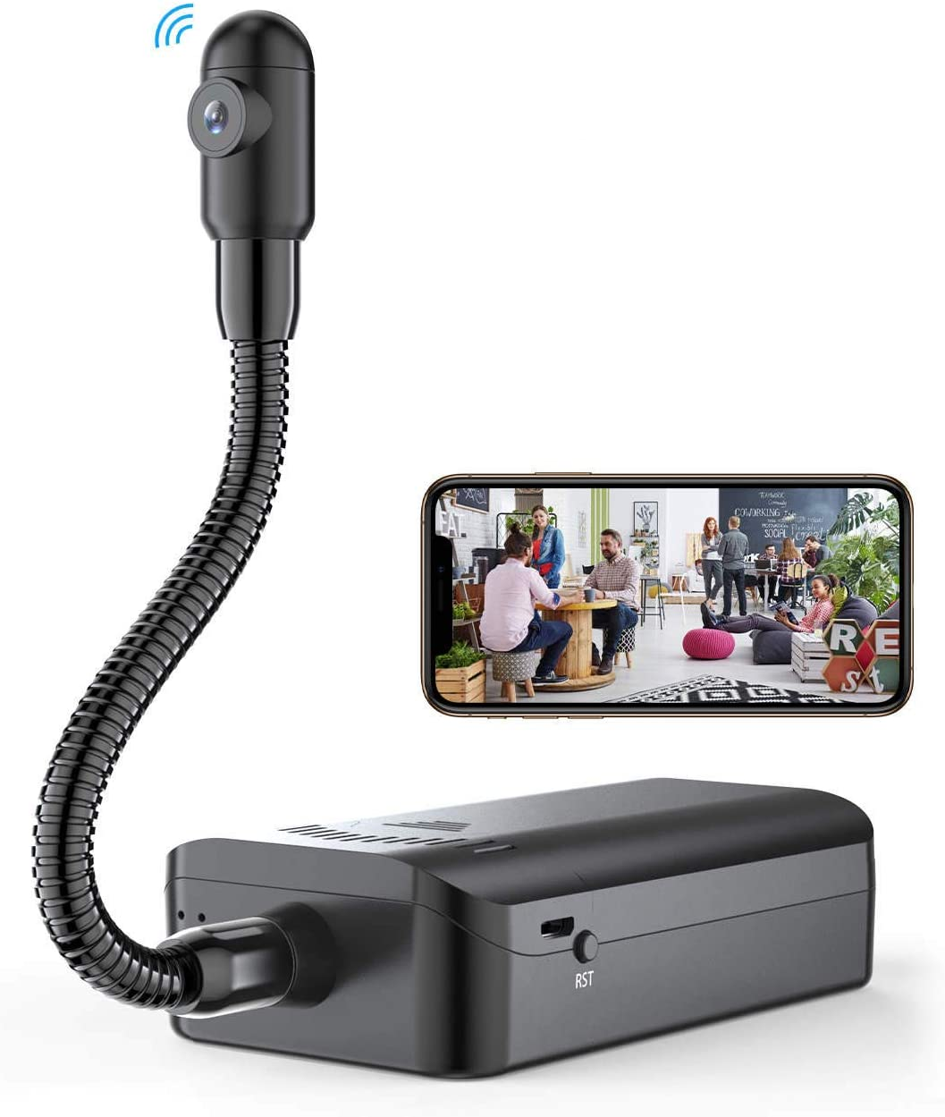 Semi-Rigid Snake Camera,Hidden Spy Camera Wireless WiFi Mini Hidden Home Security 1080P Camera for Android and iOS Smartphone