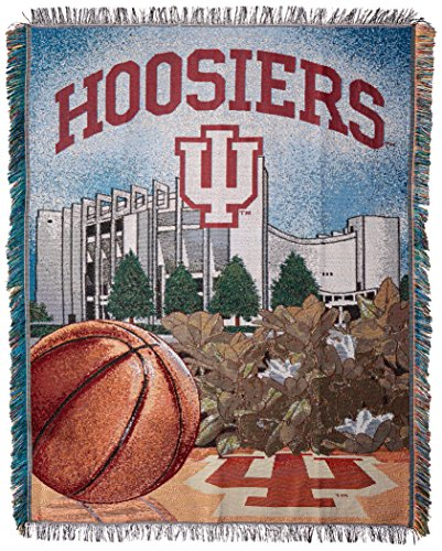 The Northwest Company Officially Licensed NCAA Indiana Hoosiers Home Field Advantage Woven Tapestry Throw Blanket, 48