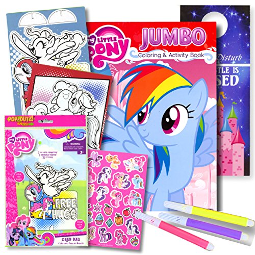 My Little Pony Coloring Book with Take-N-Play Set - 96-page