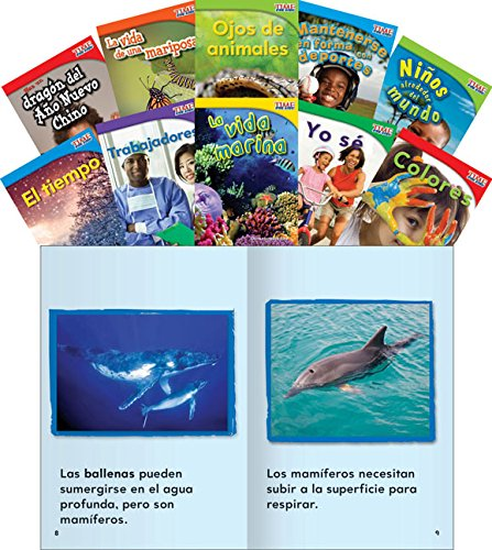 - Teacher Created Materials - TIME for Kids Informational Text Readers (Spanish) Set 2 - 10 Book Set - Grade 1 - Guided Reading Level A - I