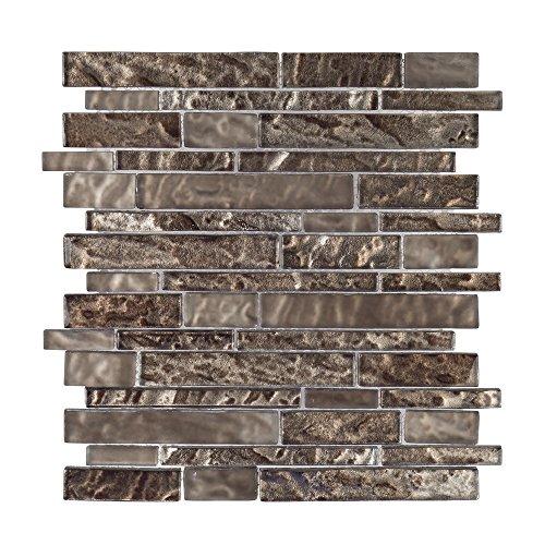 Jeffrey Court ICJ 76007 Royal Foil Glass Mosaic Wall Tile...
