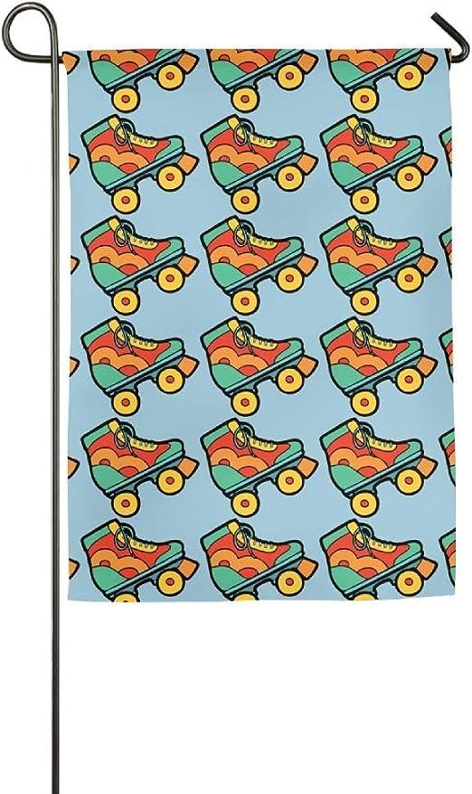 EW-OL Patines inspiradores Patios de césped estacionales Casa Jardín Banderas 12.5X18 Pulgadas Banderas de poliéster para Todo Clima: Amazon.es: Jardín
