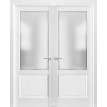 Fine French Double Panel Lite Doors 48 X 80 With Hardware Lucia Download Free Architecture Designs Scobabritishbridgeorg