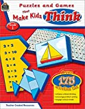 Puzzles and Games That Make Kids Think, Grade 1 (Puzzels and Games That Make Kids Think)