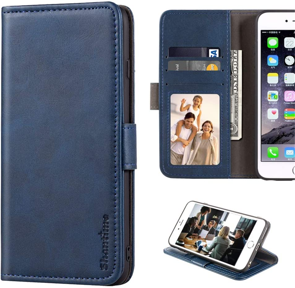 Lenovo Vibe X2 Case, Leather Wallet Case with Cash & Card Slots Soft TPU Back Cover Magnet Flip Case for Lenovo Vibe X2 (Blue)