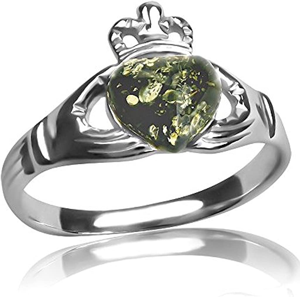 Ian and Valeri Co Green Amber Sterling Silver Round Ring