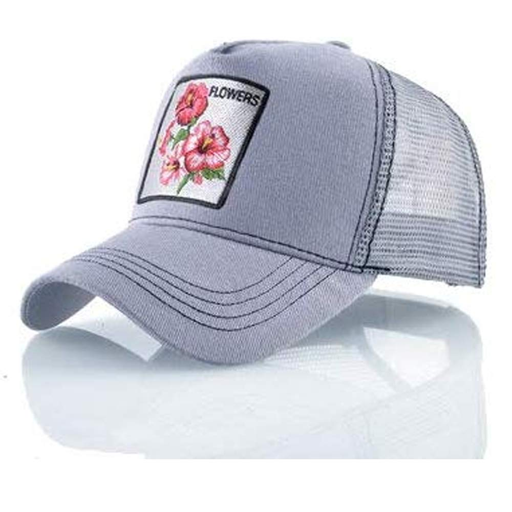 newfashion Gorra Visera Curva Trucker Flores Gris: Amazon.es: Ropa ...