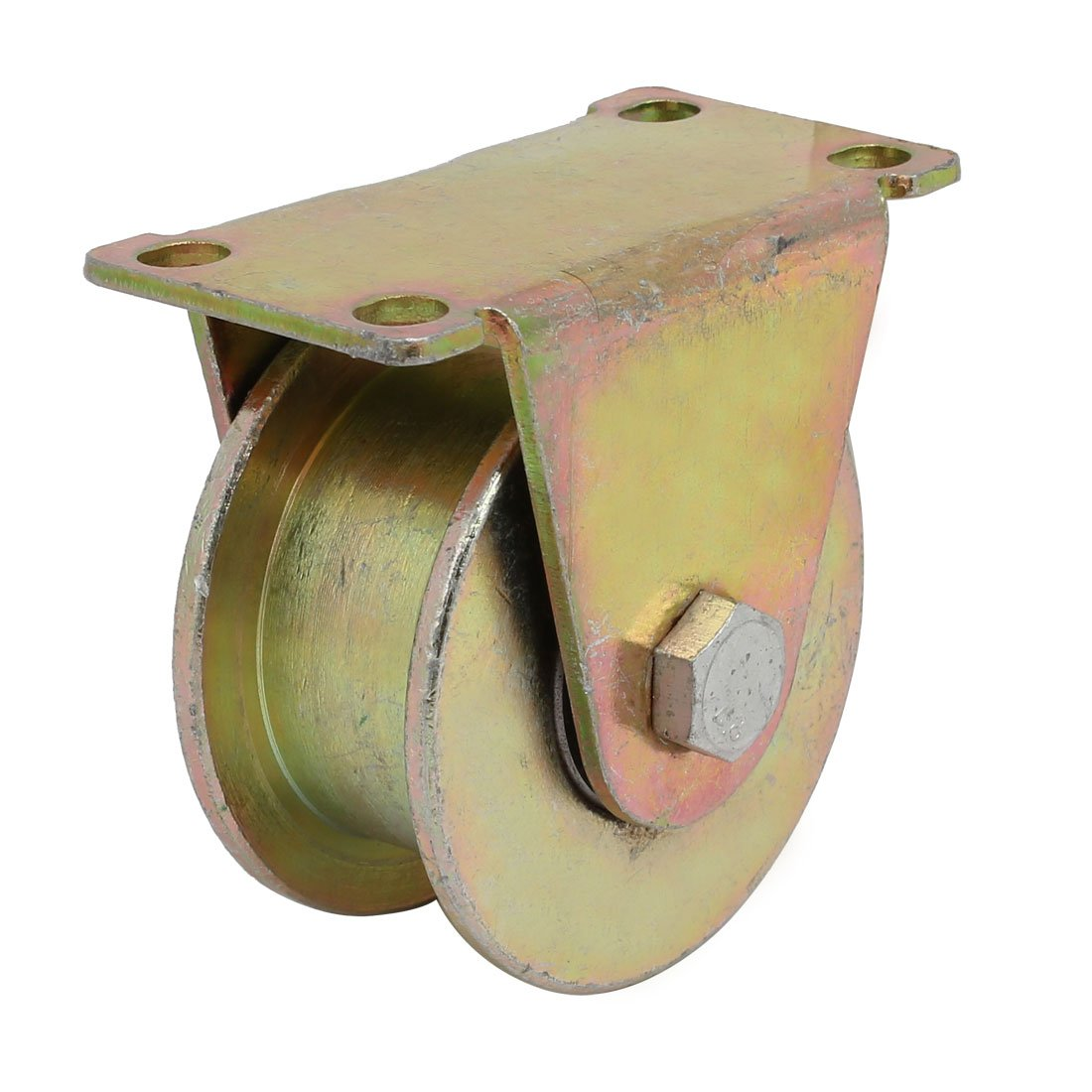 uxcell 80mm Dia Wheel H Shaped Groove Bearing Rigid Caster Wheel Industrial Hardware