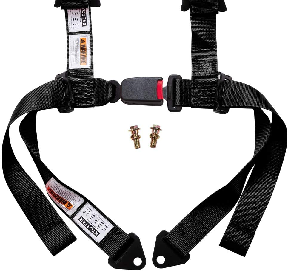 Kyostar 4 Point Racing Safety Harness Buckle with 2 Straps 1 Pack-Red
