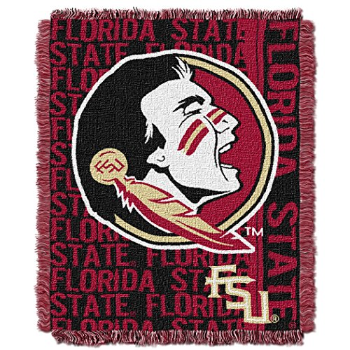 NCAA Florida State Seminoles Double Play Jacquard Triple Woven Throw, 48