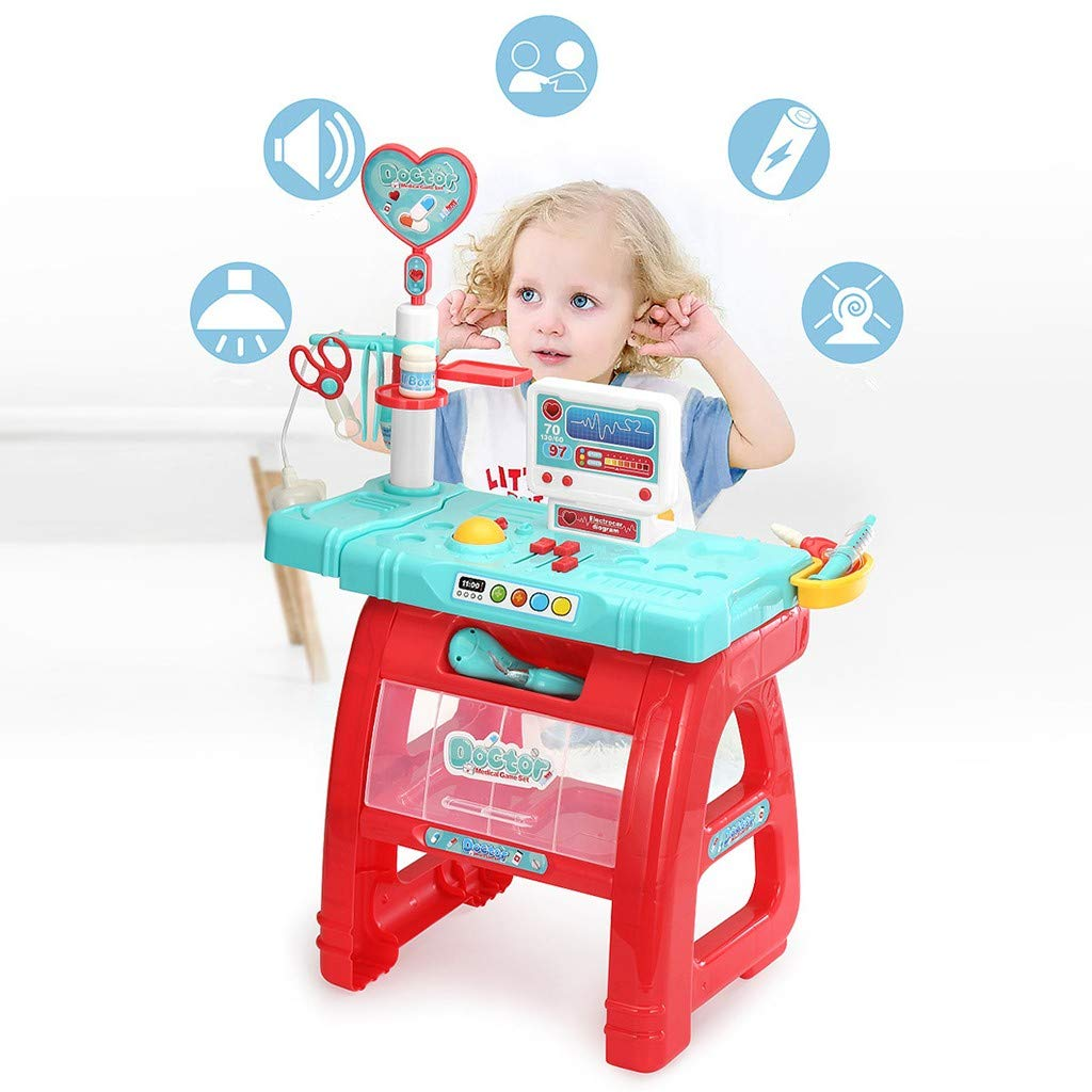 Children's Multi-Function Simulation House Medicine Stethoscope Needle Set Increase Safety Awareness Caring Care Caring Others Simulation Doctor Toys