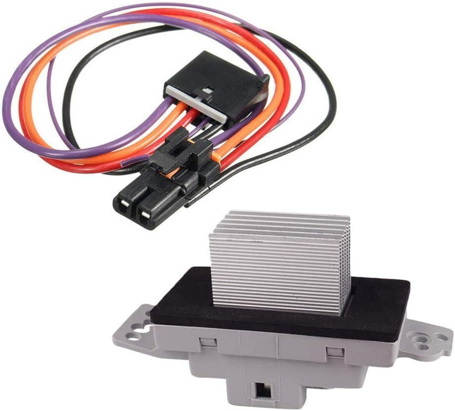 HVAC Blower Motor Resistor Compatible with 2004-2007 Buick Rainier 1999-2006 Cadillac Escalade 2002-2009 Chevrolet Trailblazer 2002-2009 GMC Envoy 2003-2009 Hummer 2002-2004 Olds Bravada OEM# 19329838