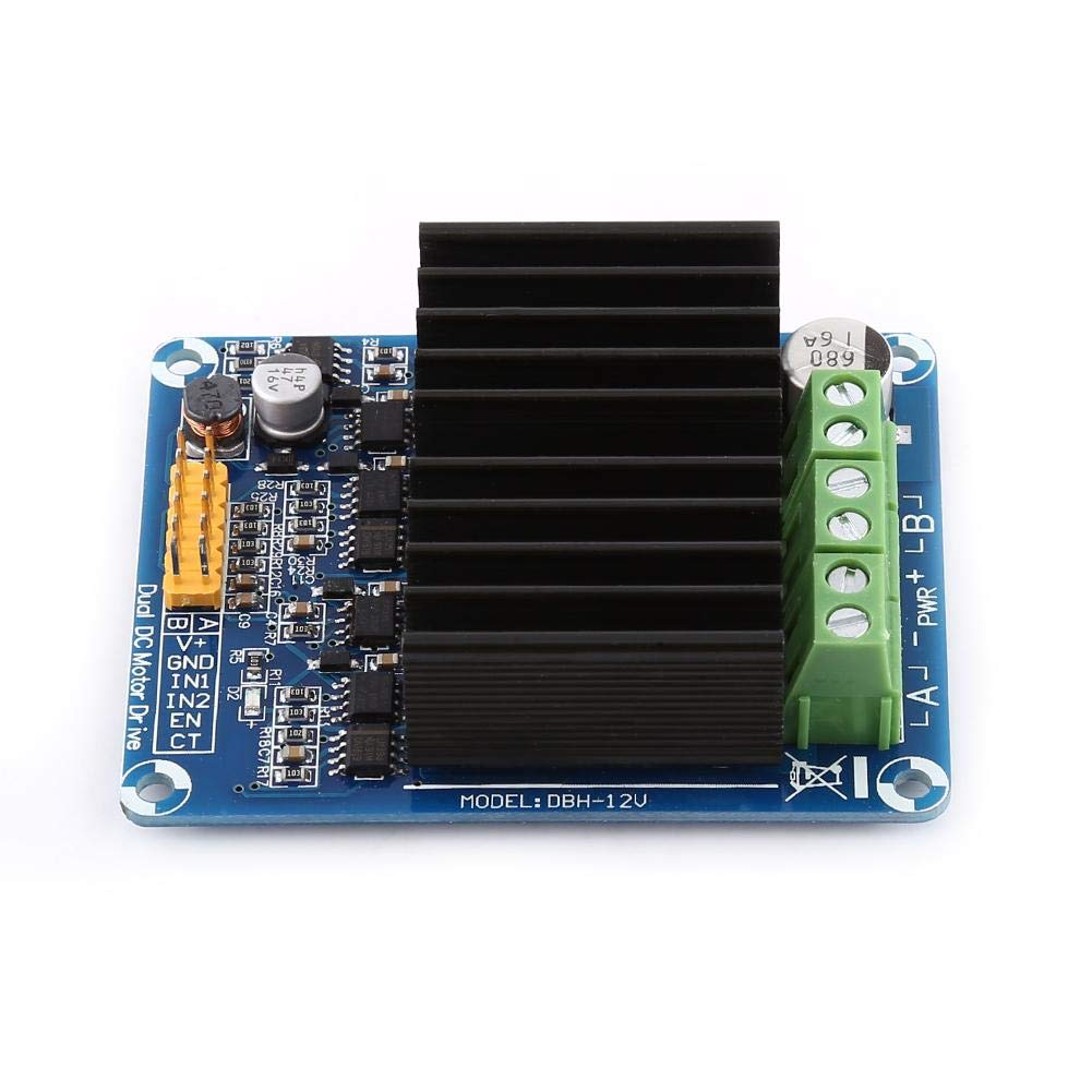 Akozon 1pc DC5-12V 0A-30A Dual-channel H bridge Motor Driver Board Module for Arduino