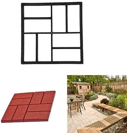 RISTHY Molde de Pavimentación-Molde de Cemento Molde para Hormigón,Hacer Pavimentos/Suelos de Jardín/Caminos,DIY Molde Concreto de Piedra (B:40×40cm): Amazon.es: Hogar